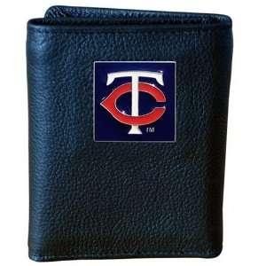 MLB Minnesota Twins Genuine Leather Tri fold Wallet