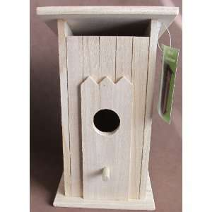 CRAFT Decorative WOOD BIRDHOUSE 9 Tall BIRD HOUSE has OUT