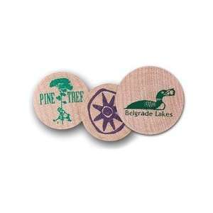 PG225    Small Wooden Ball Marker   2 Color Imprint