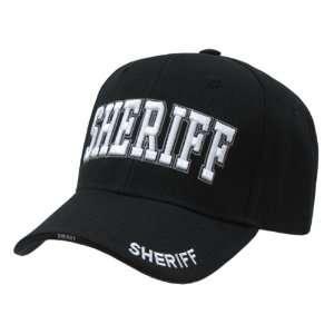 Embroidered Law Enforcement Caps Sheriff Cap Black