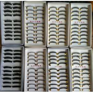 Pair High Quality Pure Handmade False Eyelashes Eye Lash Makeup Party