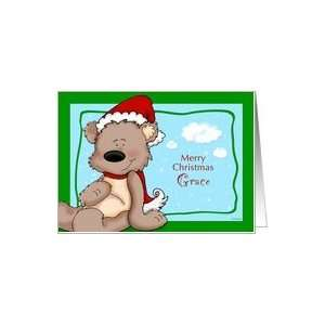 Teddy Bear Christmas   for Grace Card Health & Personal