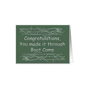 boot camp graduation congratulations Card: Health