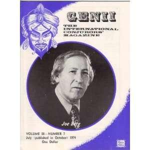 Genii The International Conjurers Magazine. Vol 38, No 7