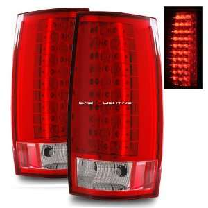 07 09 GMC Suburban LED Tail Lights   Red Clear Automotive