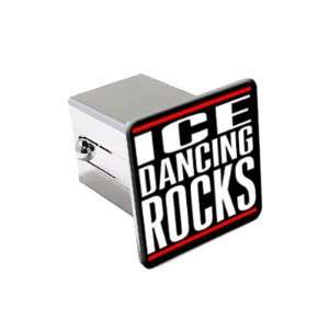 Ice Dancing Rocks   2 Chrome Tow Trailer Hitch Cover Plug Insert