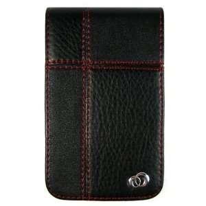 Kroo Black Leather Manhattan Case Protector for Motorola Q