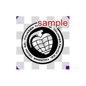 RANDOM HEART GRENADE 10.5 WHITE VINYL DECAL STICKER