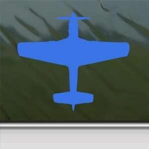 P 51 D Mustang WWII Fighter USAAC Blue Decal Car Blue