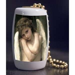 Fine Art Cupid by Bougeareau Porcelain Fan / Light Pull