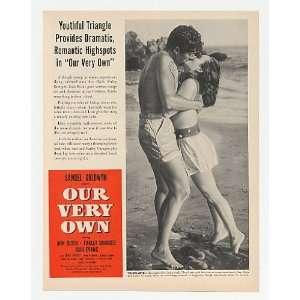 1950 Ann Blyth Our Very Own Movie Promo 2 Page Print Ad