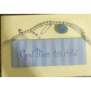 Dept 56 GOD BLESS THIS CHILD Wall Hanging NEW Everything