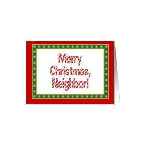 Neighbor, Merry Christmas Happy New Year Card Health
