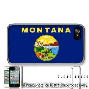 Montana State Flag Apple iPhone 4 4S Case Cover Clear on Sides
