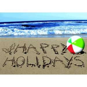 Birchcraft Studios 1107 Holiday Beach Ball   Gold Lined Envelope with
