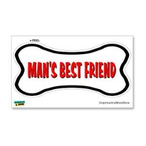 Mans Best Friend Dog Bone   Window Bumper Locker Sticker