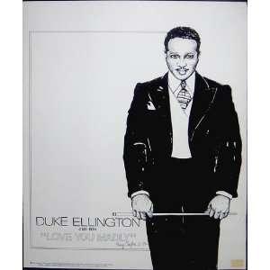 Duke Ellington Love You Madly 1984 Poster Jazz Everything