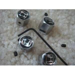 4 PCS Anti theft Tire AIR Valve Stems Caps for Honda Car