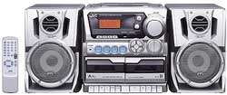 PC X290 Compact Stereo System with CD Player and Dual Cassette Deck