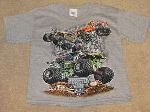 Gray Monster Jam Short Sleeve T Shirt   New