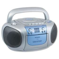 Daewoo CD Radio Cassette Player Recording Portable AM FM Stereo LED