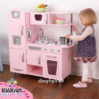 Kitchen on New Huge Red Retro Pretend Play Kitchen Toy Set Kids Playset Kidkraft