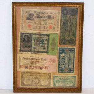 Framed WORLD Currency MONEY 1910 43 CHINA GERMANY More!