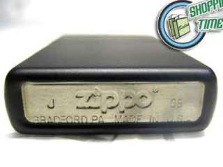 Zippo Black Matte fluid Lighter Flints Flint Wick Wicks