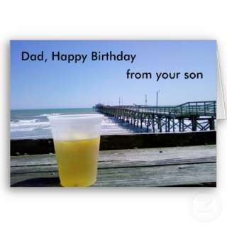 DAD, HAPPY BIRTHDAY FROM YOUR SON GREETING CARD from Zazzle