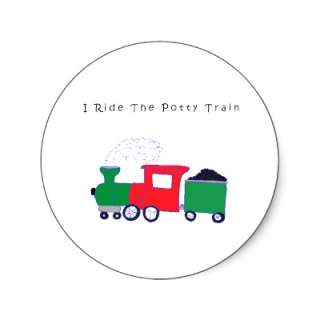 Potty Train Sticker from Zazzle