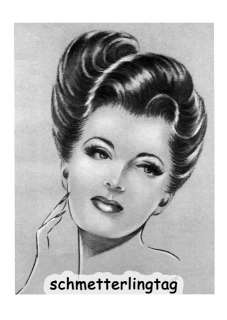 Hairstyles Book Swing Era Illustrated Glamorous A Concave Bob Haircut ...