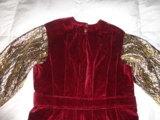 King Costume Royal Renaissance Adult Mens Velvet Robe Red Gold Shirt