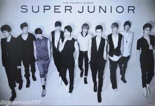 SUPER JUNIOR 4th ALBUM BONAMANA Poster # 2 24x35
