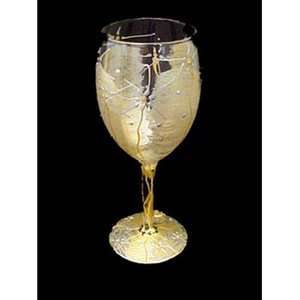 Bellissimo Angel Wings Design Hand Painted Wine Glass