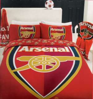Arsenal Football Club AFC Red SINGLE Quilt/Doona Cover Set LICENSED