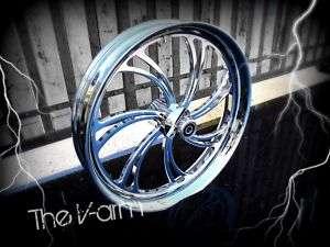 21 Chrome Custom Motorcycle Wheel 4 Harley Bagger