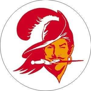 Vintage NFL Buccaneers football logo sticker decal
