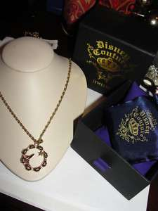 NWT Disney Couture Tinkerbell Circle Bamboo Necklace