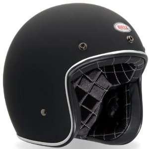 Bell Custom 500 Matte Black Open Face Helmet   Size