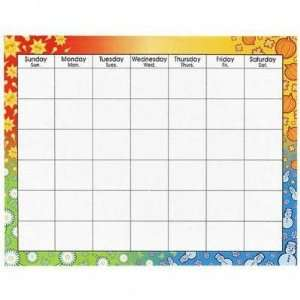 Off Blank Calendar, Trimmed W/Seasonal Symbols, 28x22   CHART,CALENDAR