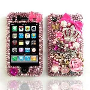 3D Custom Swarovski Hello Kitty Crystal Bling Case Cover