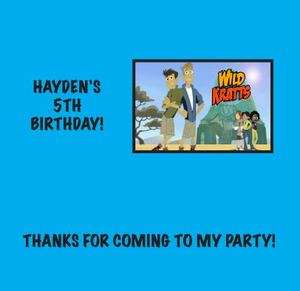 WILD KRATTS Custom Candy Bar Wrappers Birthday Party Favors Gifts