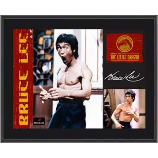 Bruce Lee   The Little Dragon   Sublimated 10x13 Plaque