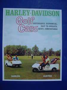 1962 Harley Davidson Gas & Electric Golf Carts Poster