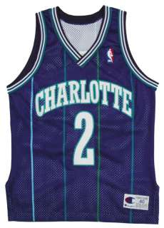 LARRY JOHNSON AUTHENTIC CHARLOTTE HORNETS NBA JERSEY 40