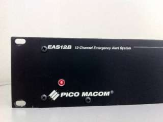 Pico Macom 12 Channel Emergency Alert System EAS 12B EAS12B