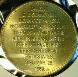 IKE Eisenhower US MINT Commemorative Bronze Medal   Token   Coin