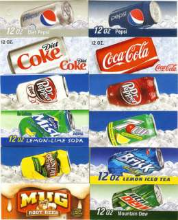 Flavor Strips Labels for Vending Machines Coke Pepsi Dr Pepper