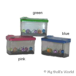 new pet fish that come complete with mini fish tank . Keep your fish