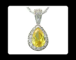 100 % brand new pendant pear cut yellow citrine 8mm